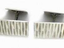 Silver Geometric Design Cufflinks
