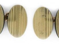 9ct Gold Oval Design Cufflinks