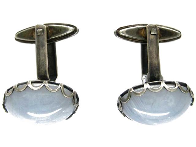 Grey Agate Cufflinks