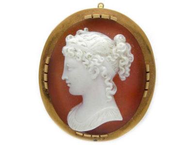 Hardstone Cameo of Lady's Head