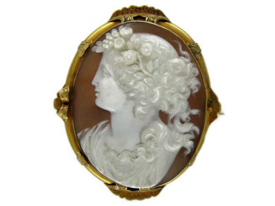 Large Shell Cameo in Ornate Victorian 18ct Gold Mount