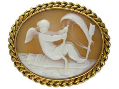 Carved Shell Victorian Cameo