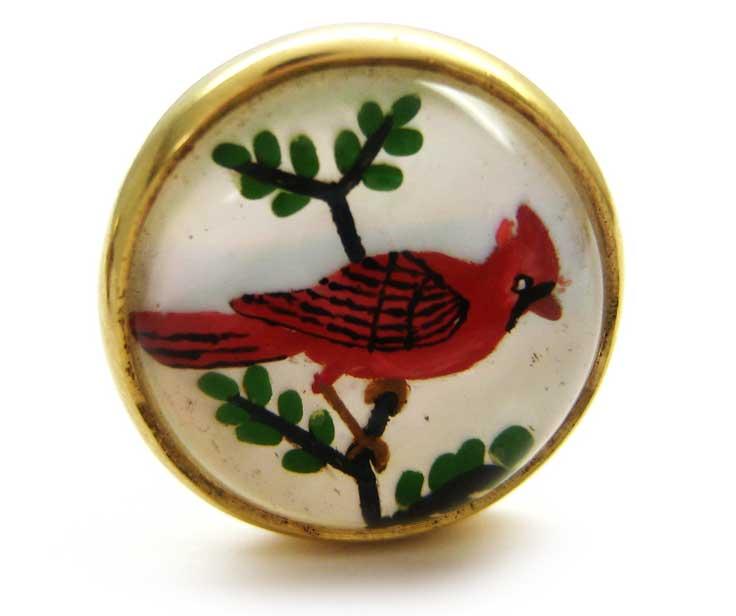 18ct Gold & Intaglio Bird Cufflinks