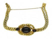 18ct Gold & Cabochon Garnet Bracelet