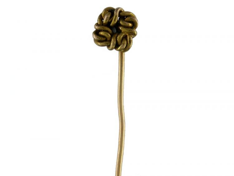 18ct Gold Knot Tie Pin