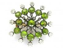 Edwardian Diamond & Peridot Brooch