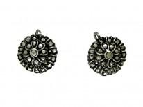 Marcasite Flower Design Earrings
