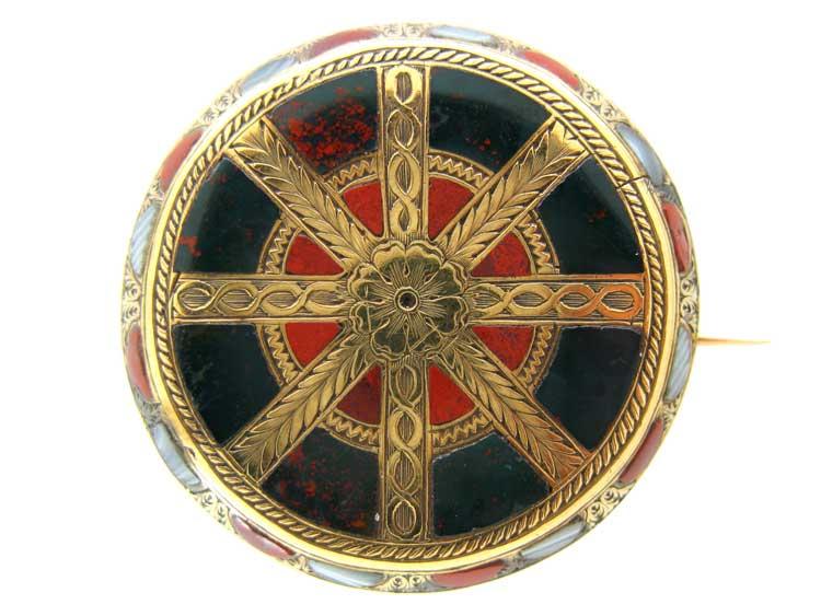 Scottish Wheel Design Brooch