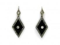 Onyx & Diamond Drop Earrings