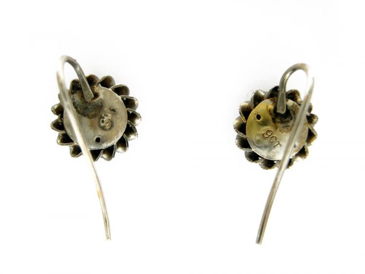 9ct Gold & Diamond Round Earrings