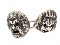 Rare Silver Theatrical Cufflinks