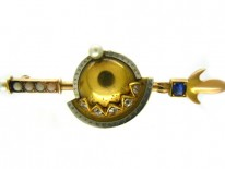 Vatican 18ct Gold & Platinum Gold Helmet & Staff Brooch