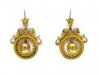 15ct Gold Ball Drop Earrings