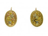 Four Colour Gold French Earrings