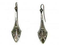 Diamond & Platinum Spearhead Earrings