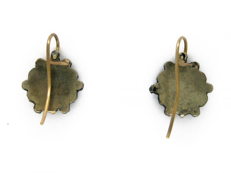 Bohemian Garnet Flower Earrings