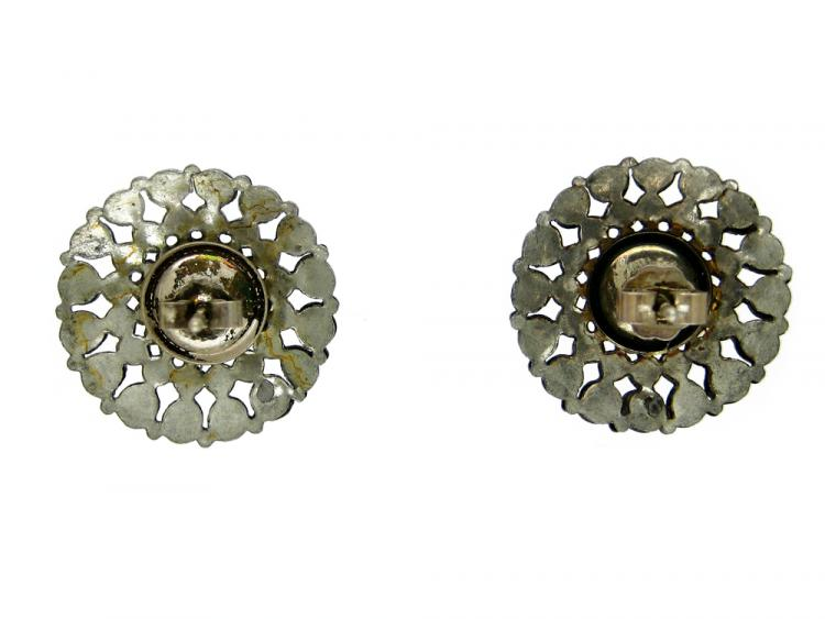 Round Cut Steel Earrings