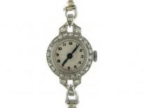 Platinum & Diamond Round Watch