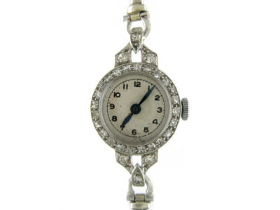 Platinum & Diamond Round Watch