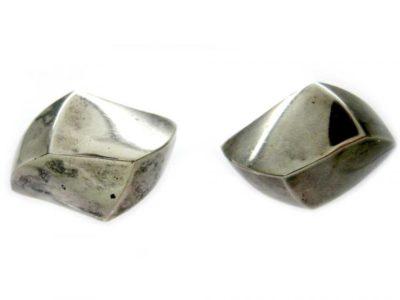European Silver Wave Earrings