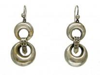 Silver Loops & Buckle Earrings