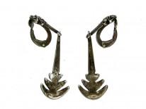 Marcasite & Silver Clip-on Earrings