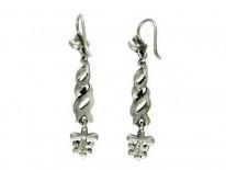 Marcasite & Silver Twist Earrings