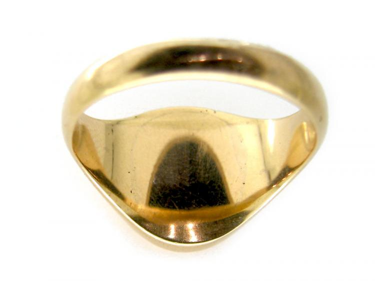 Engraved Bloodstone Signet Ring