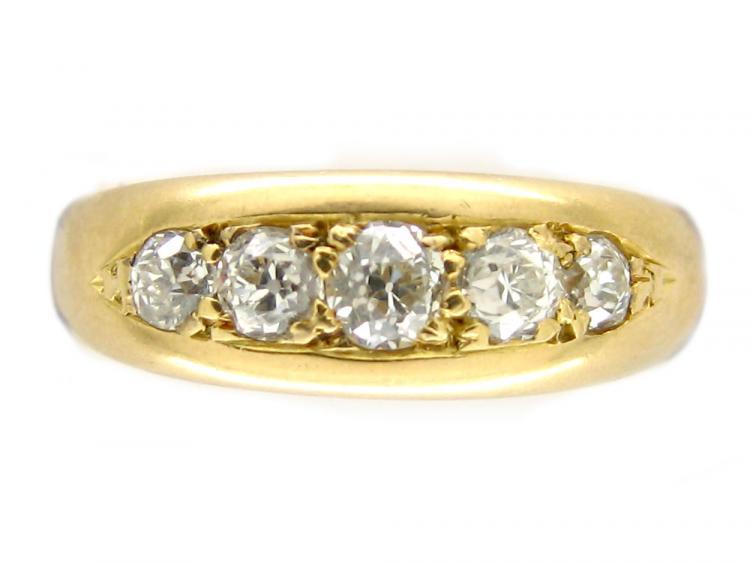 18ct Gold & Diamond Gypsy Ring