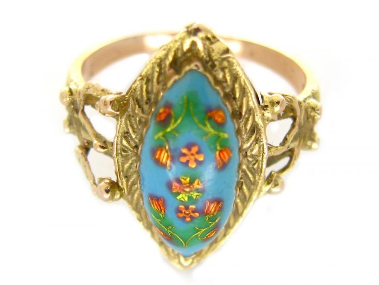 Enamel Floral Ring