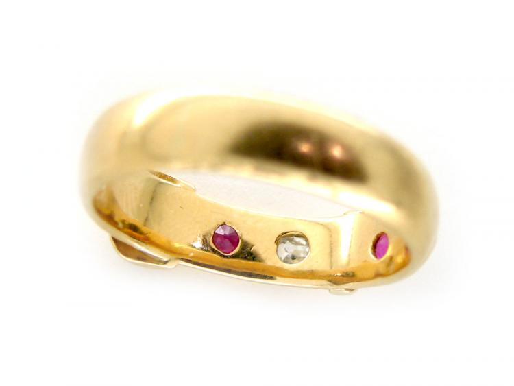Ruby & Diamond Belt Design Ring