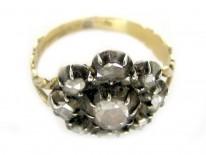 Georgian Diamond Flower Ring