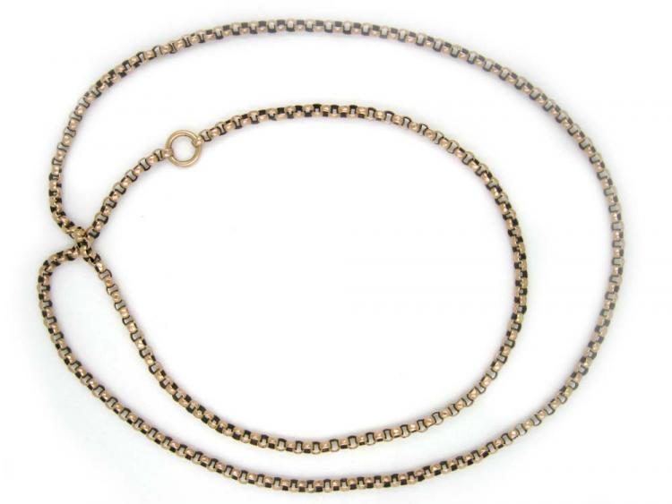 9ct Gold Long Victorian Chain