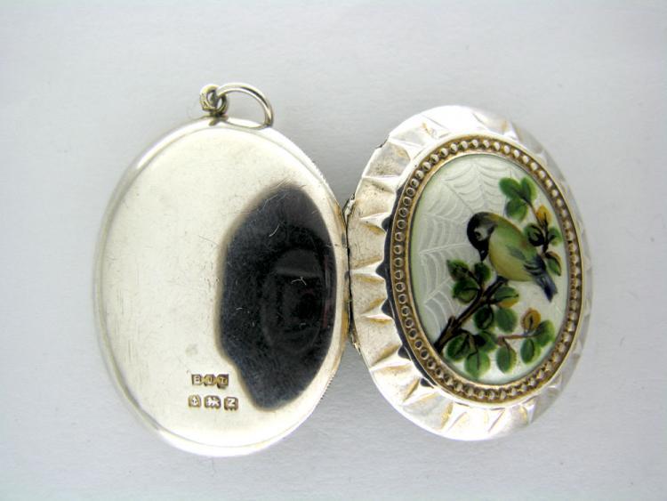 Victorian Enamel Silver Locket