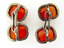 Silver Carnelian Cufflinks