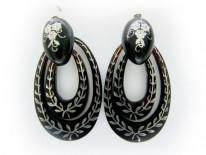 Tortoise Shell Pique Drop Earrings