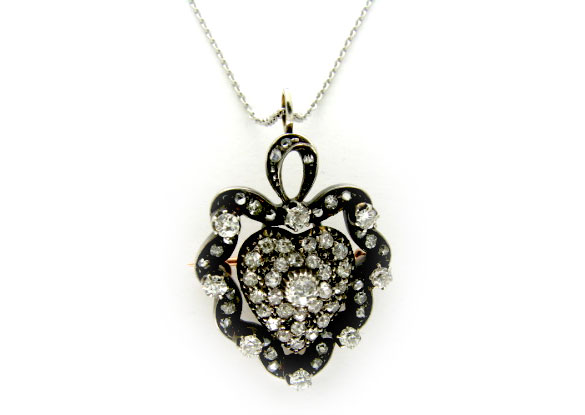 Diamond Pavé Heart Pendant
