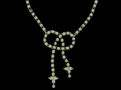 15ct Gold Lovers' Knot Pearl Necklace