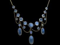 Edwardian Gold Moonstone Necklace