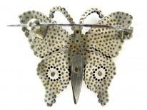 Cut Steel Butterfly Brooch
