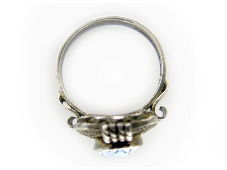 Art Deco Theodor Fahrner Silver & Blue Paste Ring