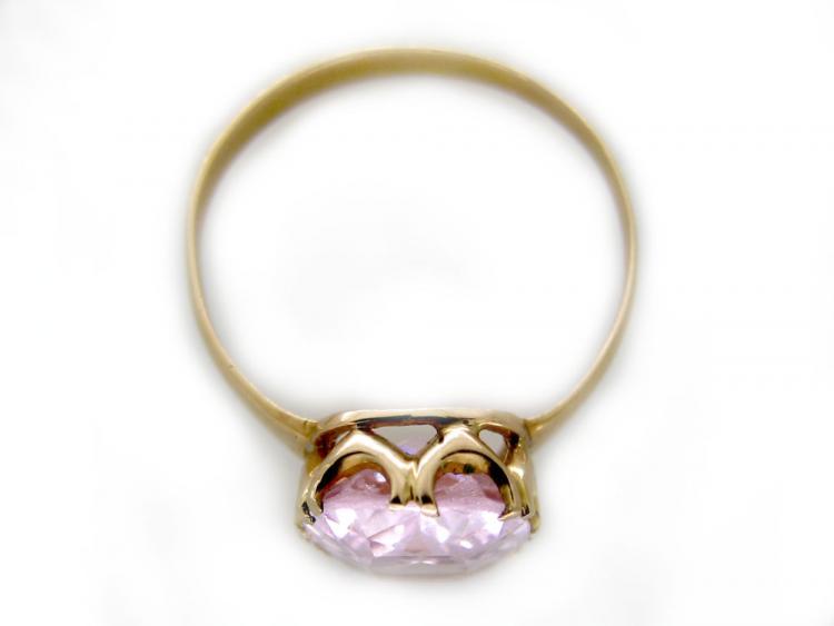18ct Edwardian Morganite Ring