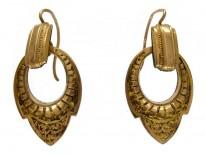 15ct Gold Victorian Hoop Earrings