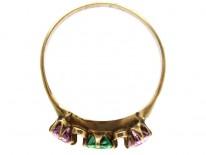 Suffragette Pink & Green Tourmaline Ring