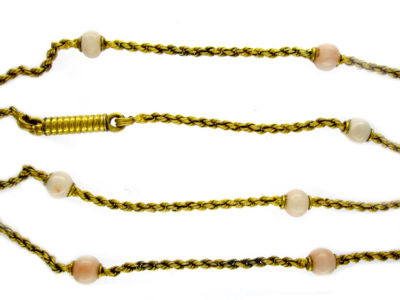 15ct Gold & Coral Chain