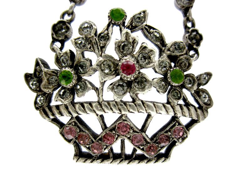 Silver Paste Basket Pendant