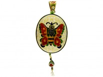 Indian Enamelled Double Sided Pendant