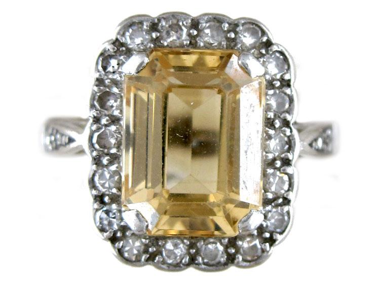 Topaz Diamond Ring