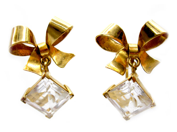 18ct Gold Bow Earrings