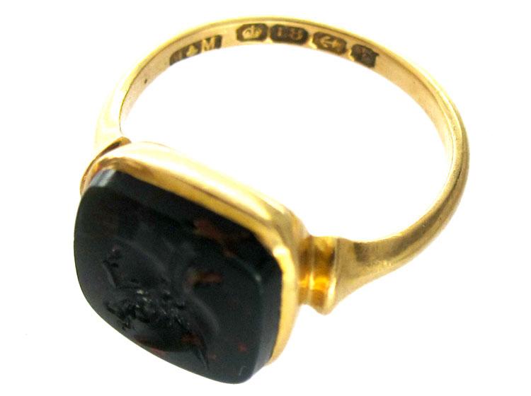 Bloodstone Intaglio Ring